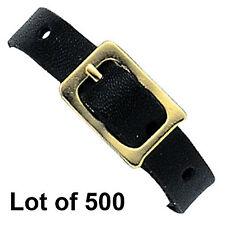 500 Black Leather Luggage Tag Loop Buckle Strap Lenticular Tags #LTL03-B-500#