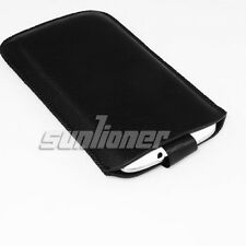 For Google LG Nexus 4, E960 Leather Case Skin Cover Sleeve Pouch with Pull Tab