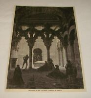 1877 magazine engraving ~ CATHEDRAL OF CORDOBA, Spain