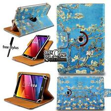 """For Various 7"""" 8"""" 10"""" ASUS ZenPad Tablet -Leather 360° Rotating Stand Cover Case"""