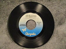 "45 RPM 7"" Record Blondie Call Me & Giorgio Moroder Call Me Instrumental CHS 2414"