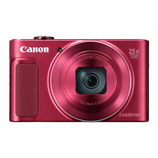 Canon PowerShot SX620 HS 20.2MP Digital Camera 25x Optical Zoom WiFi / NFC Red