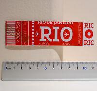 #4516 Rio De Janeiro Airport Brazil Retro Airline Luggage Label Decal Sticker