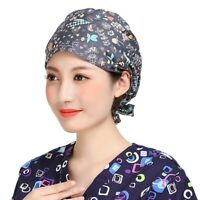 Men Women Scrub Cap Doctor Nurses Surgical Cap Home Kitchen Cooking Hat Colorful
