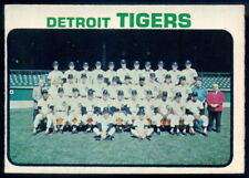 1973 TOPPS OPC O PEE CHEE BASEBALL #191 Detroit Tigers TEAM NM W/Al Kaline Card