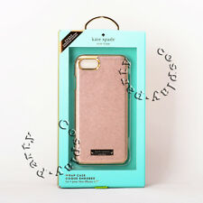 kate spade new york Wrap Case  iPhone 7 iPhone 8 Rose Gold Gold Logo Plate Black