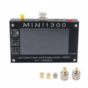 "Mini1300 HF/VHF/UHF Antenna Analyzer 0.1-1300MHz 4.3"" Touch Screen Aluminum Case"