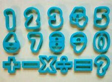 Alphabet Number Cookie Cutter Biscuit Fondant Plastic Baking Mold Set
