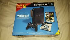 New Black Ps2 PlayStation 2 Console Combo Pack (SCPH-50001) Factory Sealed