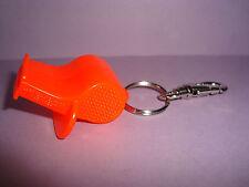 Set of 4 Life Saver #1 Personal Safety Emergency Keychain Clip Orange WHISTLE
