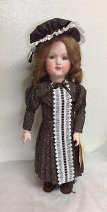 "Antique Repro Guttman & Schiffnie German  Doll Painted Eyes Porcelain/Compo 19"""
