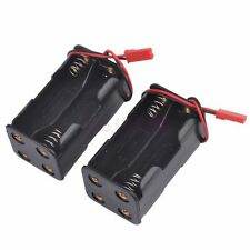 ( 4 x AA ) Battery Pack Case Box 2Pcs For 1/10 1/8 Car Truck RC HSP 02070