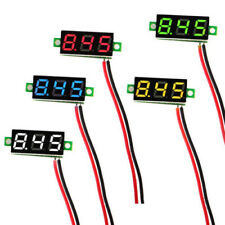 10 PCS 2.5V-30V 0.28 Inch 2 Wire Mini LED Panel Digital Voltmeter Voltage Tester