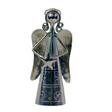 Angel Shaped Handheld Bell With Star Handmade Metal Fair Trade
