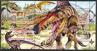 Chad 2010 Prehistoric Dinosaurs Butterflies Sheet of 4 MNH** Privat !
