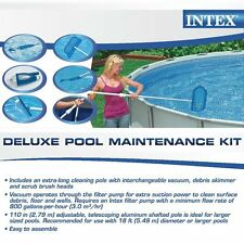 Intex Deluxe Pool Maintentance Kit for Above Ground swiming Pools cleaning new