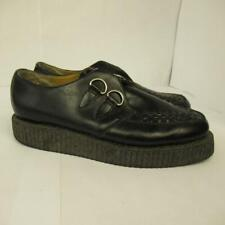T.U.K. Men's Creepers D-ring Black Leather 3cm Platform Size 8 UK 42 EU 9 US