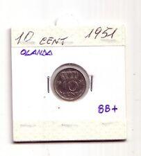 Olanda Nederland   10 cent  1951      BB+    (m472)