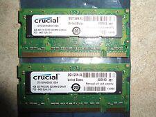 * CRUCIAL 8GB (2 x 4GB) DDR2 PC2-6400 800MHz Apple Mac LAPTOP SO-DIMM *