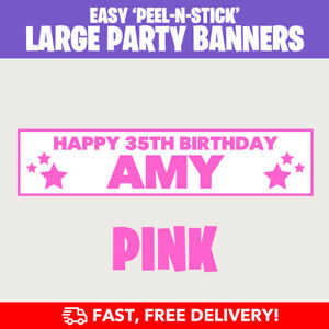 PERSONALISED BIRTHDAY PARTY BANNERS 16th18th21st30th40th50th60th70th - FAST!