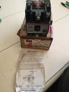 New Cutler-Hammer Eaton Westinghouse D26MPL Type M Relay 120vdc  H5