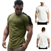 T shirts summer men's o neck casual short sleeve blouse slim fit tops t shirt
