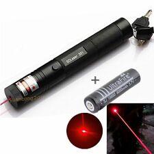 8000M Military Red 5mW 650nm Laser Pointer Pen Lazer Light Zoom+ Battery