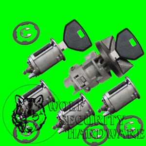 Dodge Ram Van 91-94 Ignition Key Switch Lock Cylinder & Door Set 2 Keys