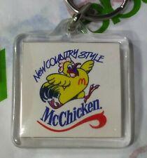 Vintage RARE NEW Country Style McChicken SANDWICH McDonalds Fastfood Keychain
