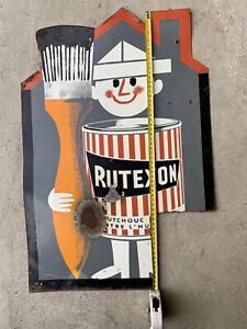 plaque tole publicitaire ancienne Rutexon