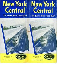 New York Central Railroad, system passenger time table, June 20, 1954 - 47 pages