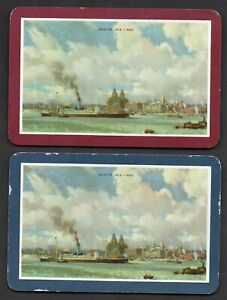 Two Single Vintage Playing/Swap Cards :  SHIP WESTOR 1913-1950