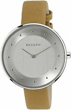 Skagen Women's Skw2326 Stainless Steel Watch With Leather Band