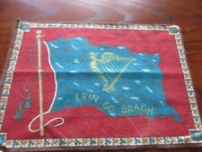 "1900's tobacco Flannel/Felt Ireland 7 1/2"" x 10"" Flag"