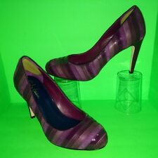 COLE HAAN Stitched Patent Leather Suede Lizard Calfskin Stiletto Pump Heel 8.5 B