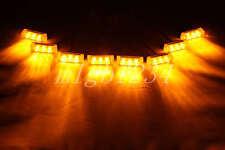8 X 3 LED AMBER CAR STROBE FLASH LIGHT EMERGENCY 3 FLASHING MODES 12V