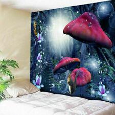 US Stock Trippy Mushroom Hippie Tapestry Art Room Wall Hanging Throw Tapestries