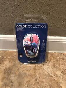 Logitech - M325c Color Collection Wireless Optical Mouse Nano Pink Marble Flow