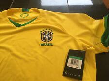 WOMENS NIKE BRAZIL NATIONAL FOOTBALL SHORT SLEEVE SOCCER JERSEY YELLOW XL NWT
