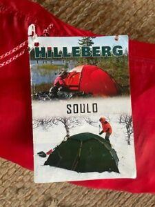 Hilleberg Soulo Zelt neuwertig NP 884 Euro rot