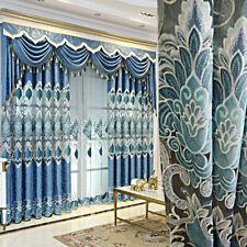 European Luxury Curtains for Living Room 63 84 Embroidered Sheer Drape Grommet