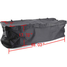Large Cargo Carrier Weather-Resistant Bag Hitch Mount Luggage Roof Rack Black