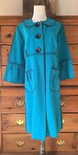 Beebop & Wally New York Boutique 100% Wool Coat - Turquoise Blue - Womens Large