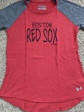 Boston Red Sox girls under armour medium Loose 3/4 Sleeve
