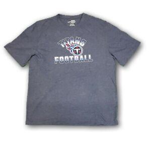 Tennessee Titans NFL Majestic Men's Heather Navy Blue Short Sleeve T-shirt