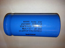 Electrolytic capacitor 700uF/450V, 525V surge.  Tested and formated for HV.