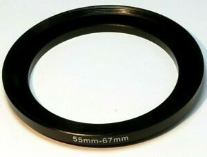 55mm to 67mm ring Metal adapter threaded step-up