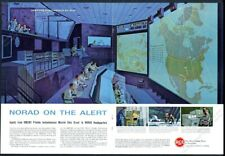 1961 Norad big board in Cheyenne Mountain cold war art Rca vintage print ad