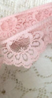 Vintage Pink Lace Trim Ribbon Sewing 2 Yards  Yardage A44