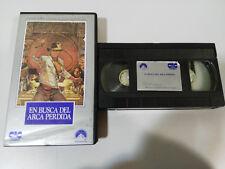 EN BUSCA DEL ARCA PERDIDA INDIANA JONES STEVEN SPIELBERG VHS CASTELLANO